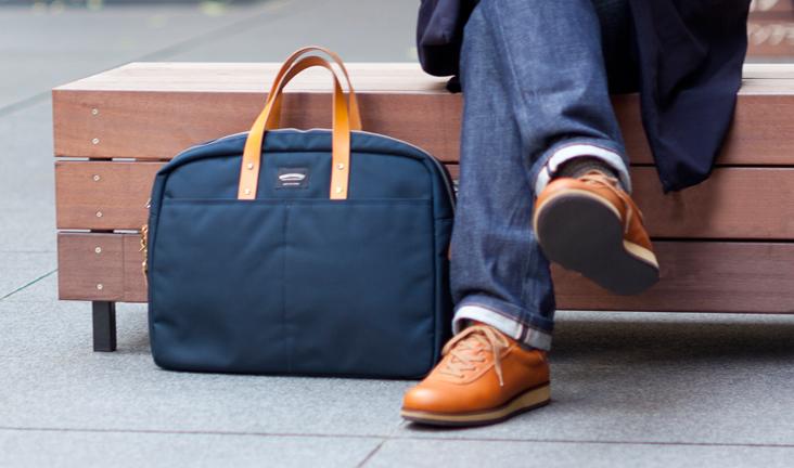 WONDER BAGGAGE ワンダーバゲージ / Goodmans briefcase : navy グッドマンズ・ブリーフケース ネイビー